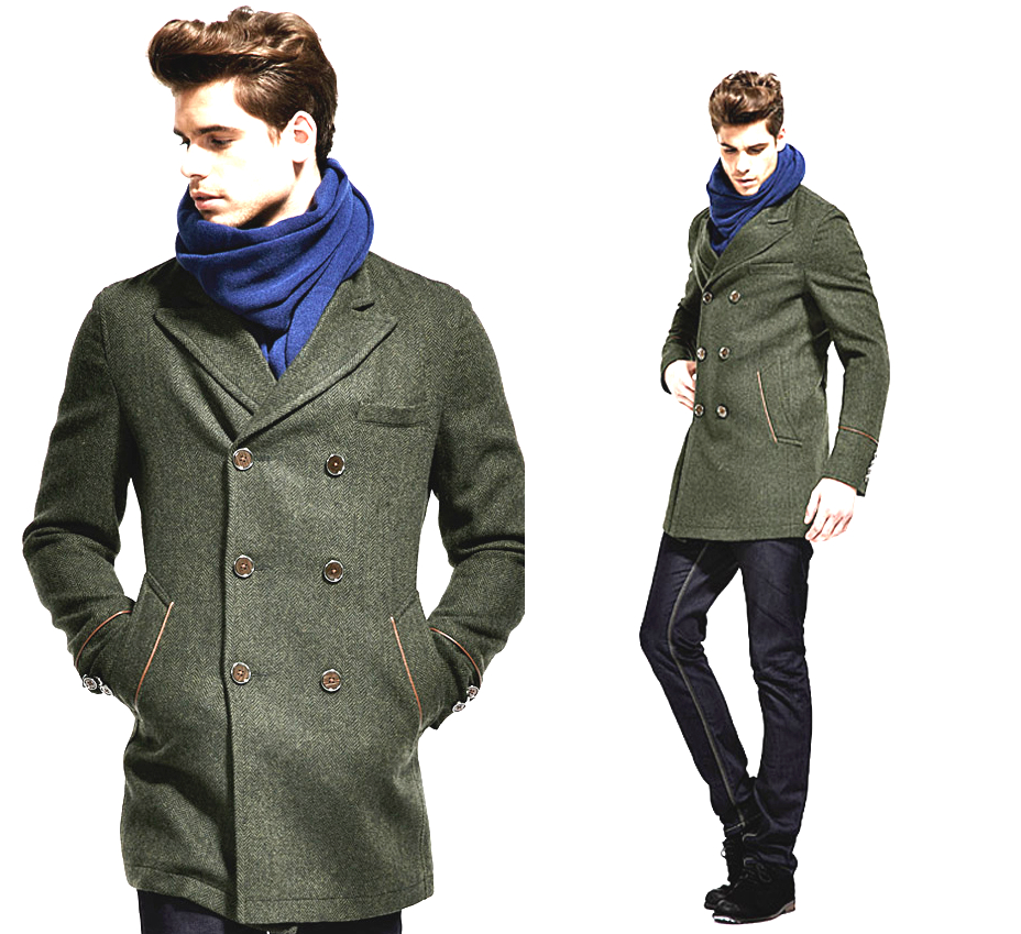 Pea Coats Pea coats- navy inspired fashion With a nautical vibe, pea coats are characterized by a short length, broad lapels, and double-breasted fronts. Deeply rooted to military and navy backgrounds, these coats are the perfect additions for dashing gents looking to make an impression.